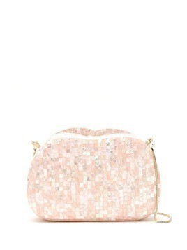 Isla mother of pearl clutch - Pink