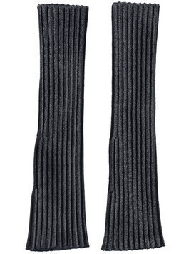 Chloé ribbed fingerless gloves - Black