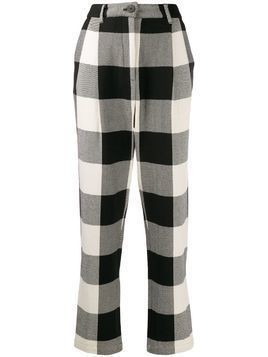 Mara Hoffman Dita checked trousers - Black