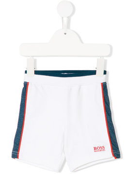 Boss Kids contrast trim shorts - White