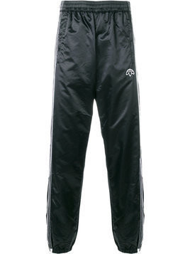 Adidas Originals By Alexander Wang - snap closure track pants - unisex - Polyamide - L - Black