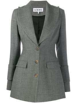 Loewe oversized-lapel fitted blazer - Grey