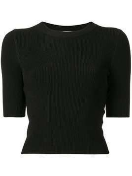 Dion Lee shadow cropped top - Black