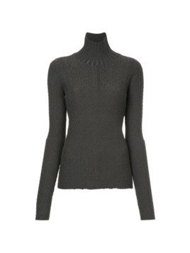 Le Ciel Bleu roll-neck fitted sweater - Grey