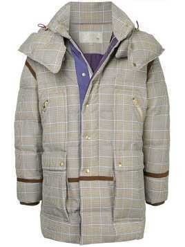 A(Lefrude)E checked padded coat - Grey