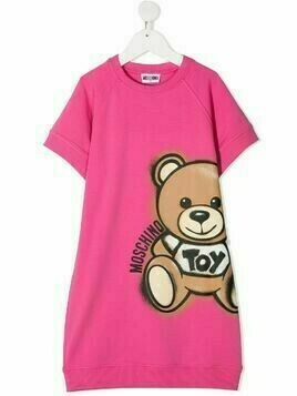 Moschino Kids Teddy Bear sweatshirt dress - PINK