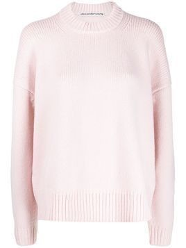 Alexander Wang oversized ribbed weave jumper - PINK