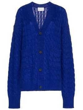 Matthew Adams Dolan oversized knitted cardigan - Blue