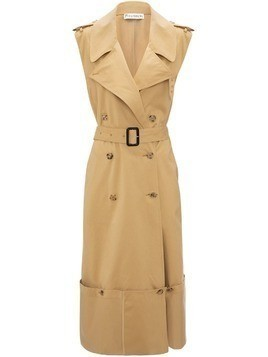 JW Anderson fold up hem sleeveless trench coat - Brown