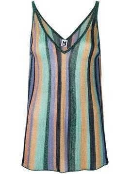 M Missoni striped cami top - Blue