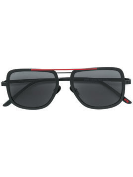 La Petite Lunette Rouge aviator shaped sunglasses - Black