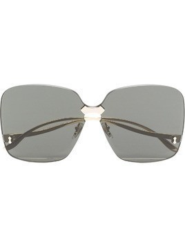 Gucci grey rimless square sunglasses - Black