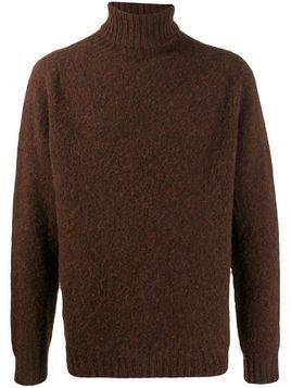 Howlin' roll-neck knitted jumper - Brown