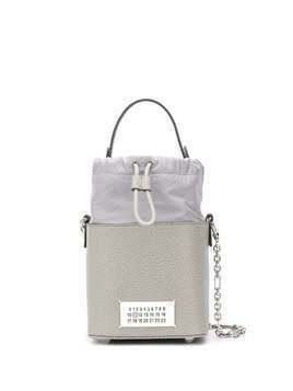Maison Margiela logo patch bucket bag - Grey
