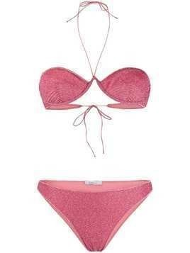 Oseree lurex two-piece bikini - PINK