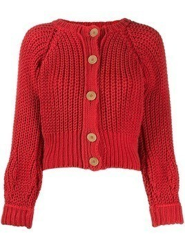 Maison Flaneur chunky knit cardigan - Red