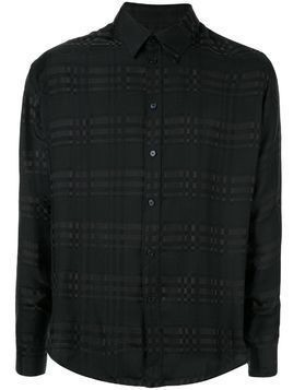Martine Rose tone-on-tone check shirt - Black