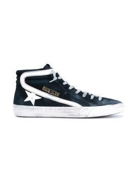 Golden Goose Deluxe Brand - 'Slide' hi-top sneakers - Herren - Cotton/Leather/Suede/rubber - 42 - Blue