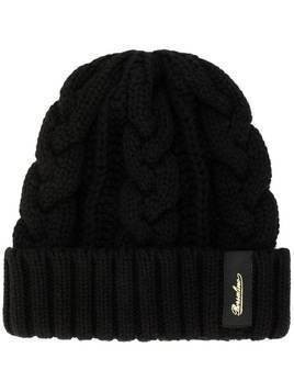Borsalino cable knit beanie hat - Black