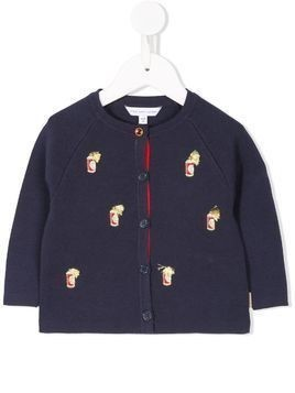 Little Marc Jacobs embroidered cardigan - Blue