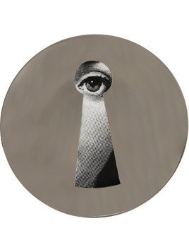 Fornasetti keyhole T&V wall plate - Grey