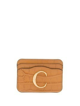 Chloé logo card holder - Neutrals