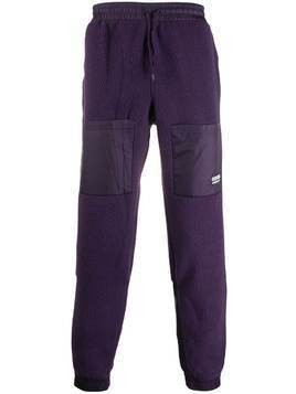 adidas logo shearling tracksuit pants - PURPLE