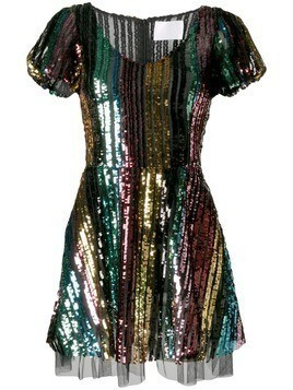 Athena Procopiou rainbow sequin dress - Black