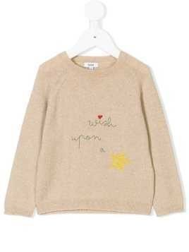 Knot Star knitted sweater - Neutrals
