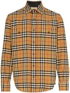 Burberry Flannel Vintage Checked Shirt - Brown