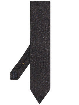 Eton embroidered tie - Brown