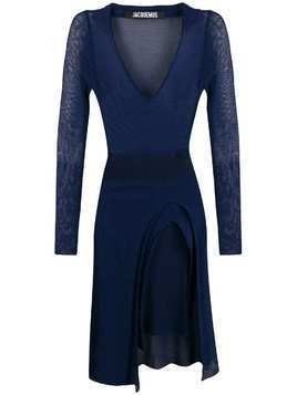 Jacquemus sheer constructed dress - Blue