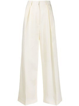 Jacquemus pleated details palazzo pants - White