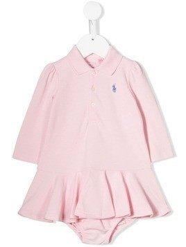 Ralph Lauren Kids embroidered logo polo dress - Pink