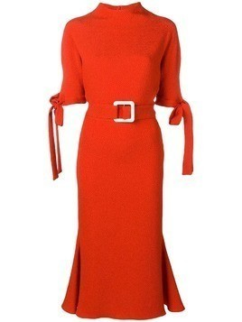 Edeline Lee belted dress - Orange