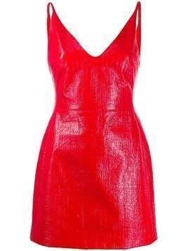 David Koma polished finish short dress - Red
