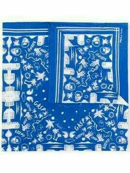 PS Paul Smith all-over print scarf - Blue