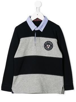 Lapin House striped polo shirt - Grey