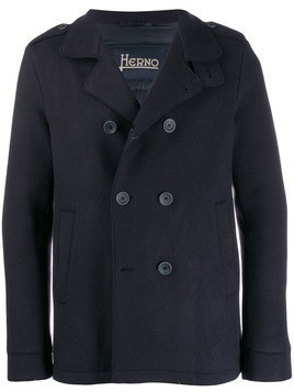 Herno double-breasted pea coat - Blue