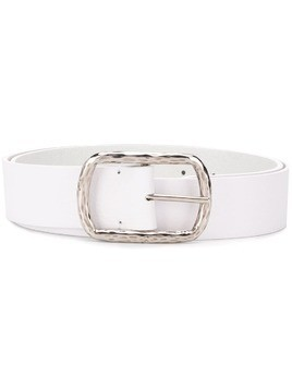 P.A.R.O.S.H. textured-buckle calf leather belt - White