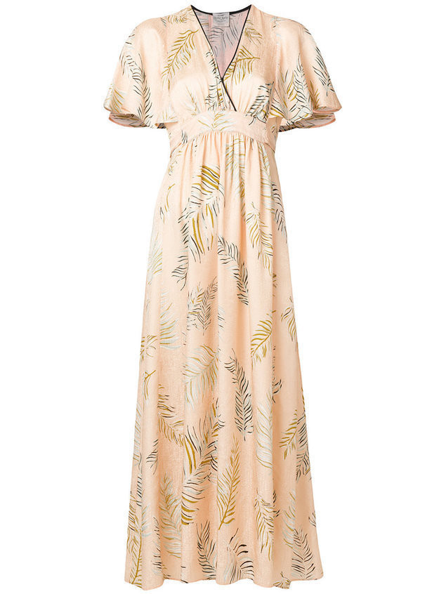 Forte Forte leaf print maxi dress - Nude & Neutrals