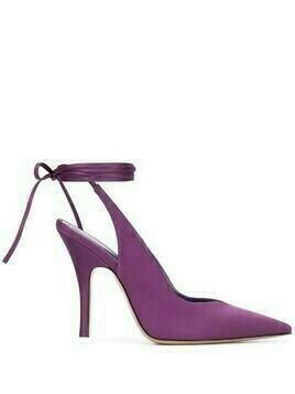 The Attico tied pointed toe pumps - PURPLE