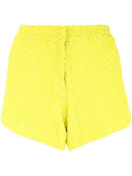 Manish Arora sequinned shorts - Yellow