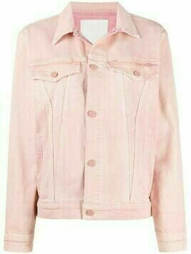 MOTHER two-tone denim jacket - Pink