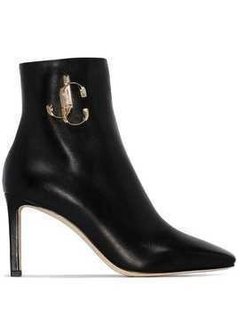 Jimmy Choo Minori 85mm JC plaque ankle boots - Black