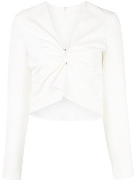 Dion Lee V-neck ruched blouse - White