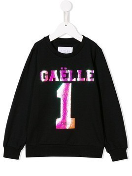 Gaelle Paris Kids logo sweatshirt - Black