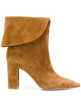 Gianvito Rossi folded top boats - Brown
