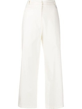 Kristensen Du Nord high-waisted cropped trousers - White