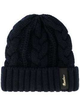 Borsalino cable knit beanie hat - Blue